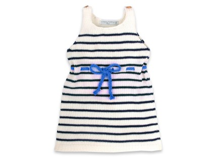 Honorée Dress blue belt for kids