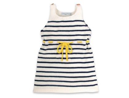 Robe Honorée ceinture jaune enfant