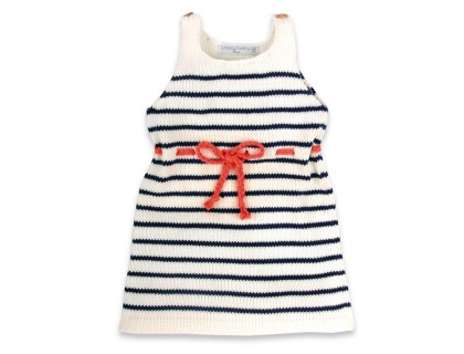 Honorée Dress red belt for kids