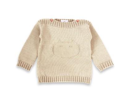Pull Isidore pour bébé - coloris sable - en coton