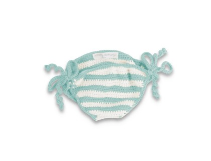 Firmin swimsuit with sky blue stripes made from cotton and bamboo