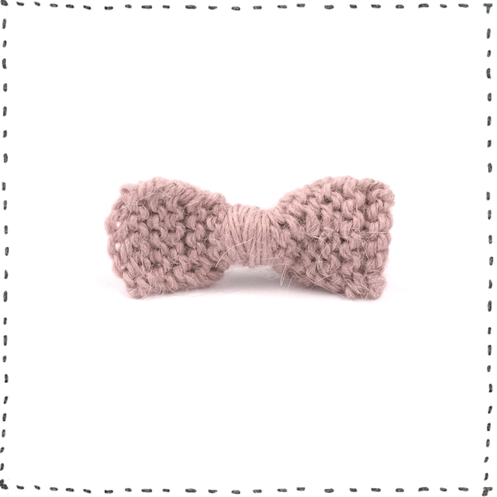 Les tricots de mamy barrette b b enfant type pince crocodile noeud mauve tricot en laine et - Les differents types de laine ...