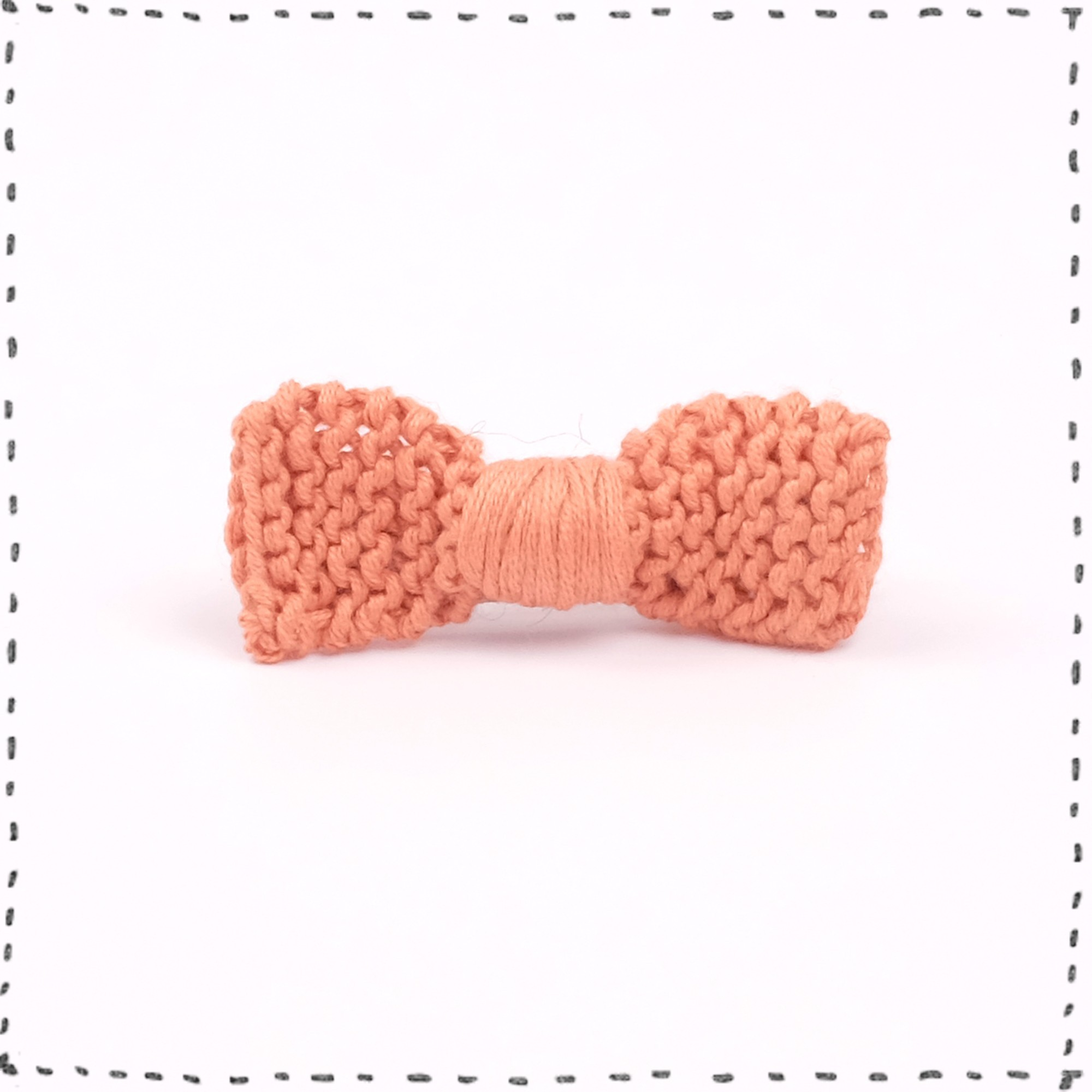Hair clip knitted bow