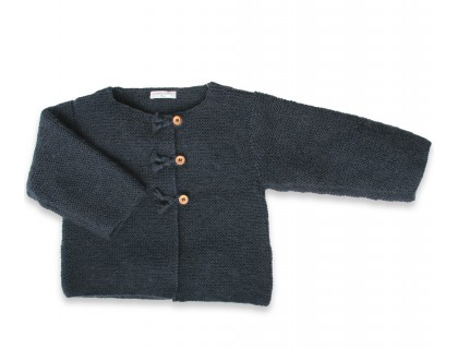Marie-Jeanne cardigan navy blue wool mohaire
