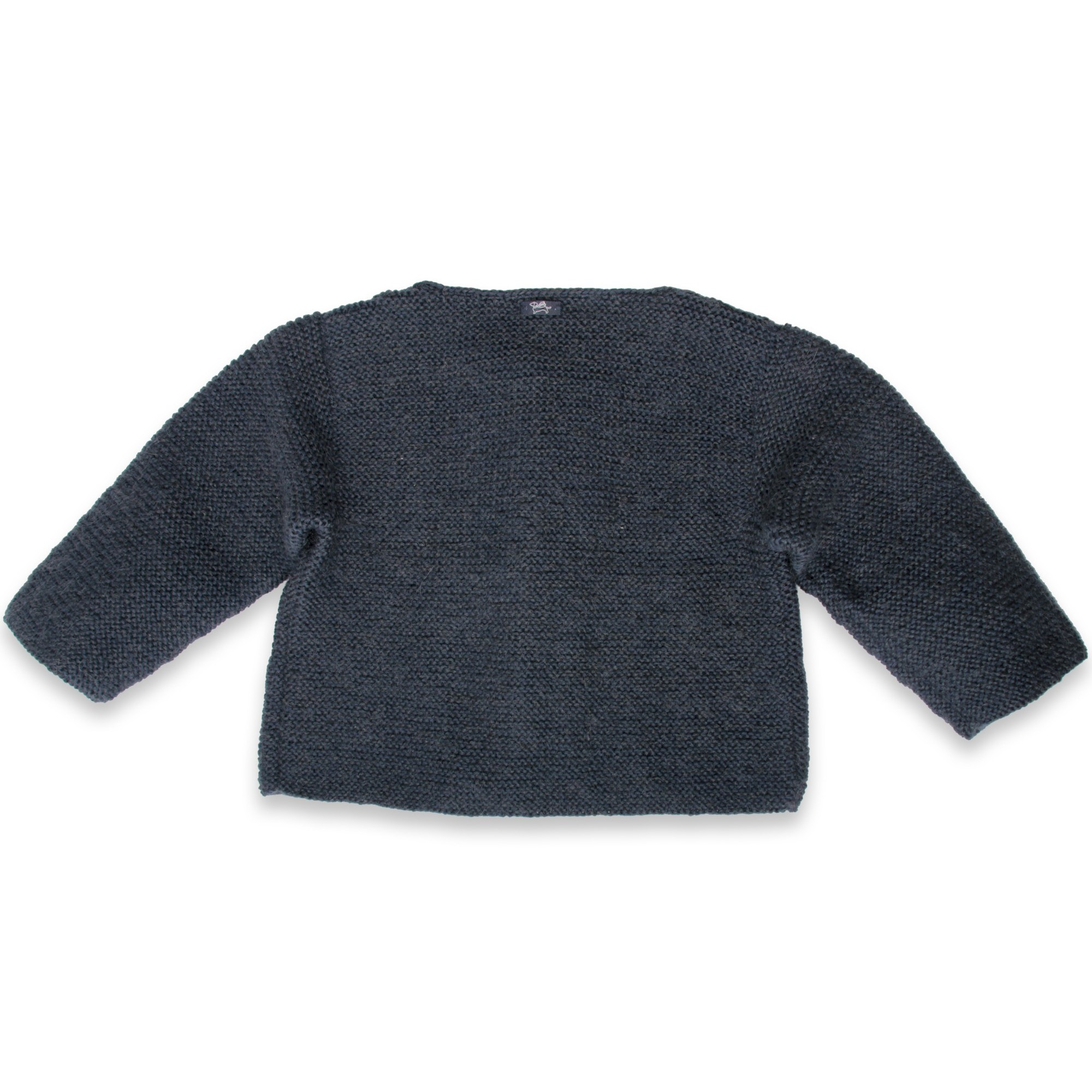 Marie-Jeanne cardigan navy blue wool mohair back
