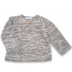 Basile sweater baby flecked grey cotton bamboo cashmere