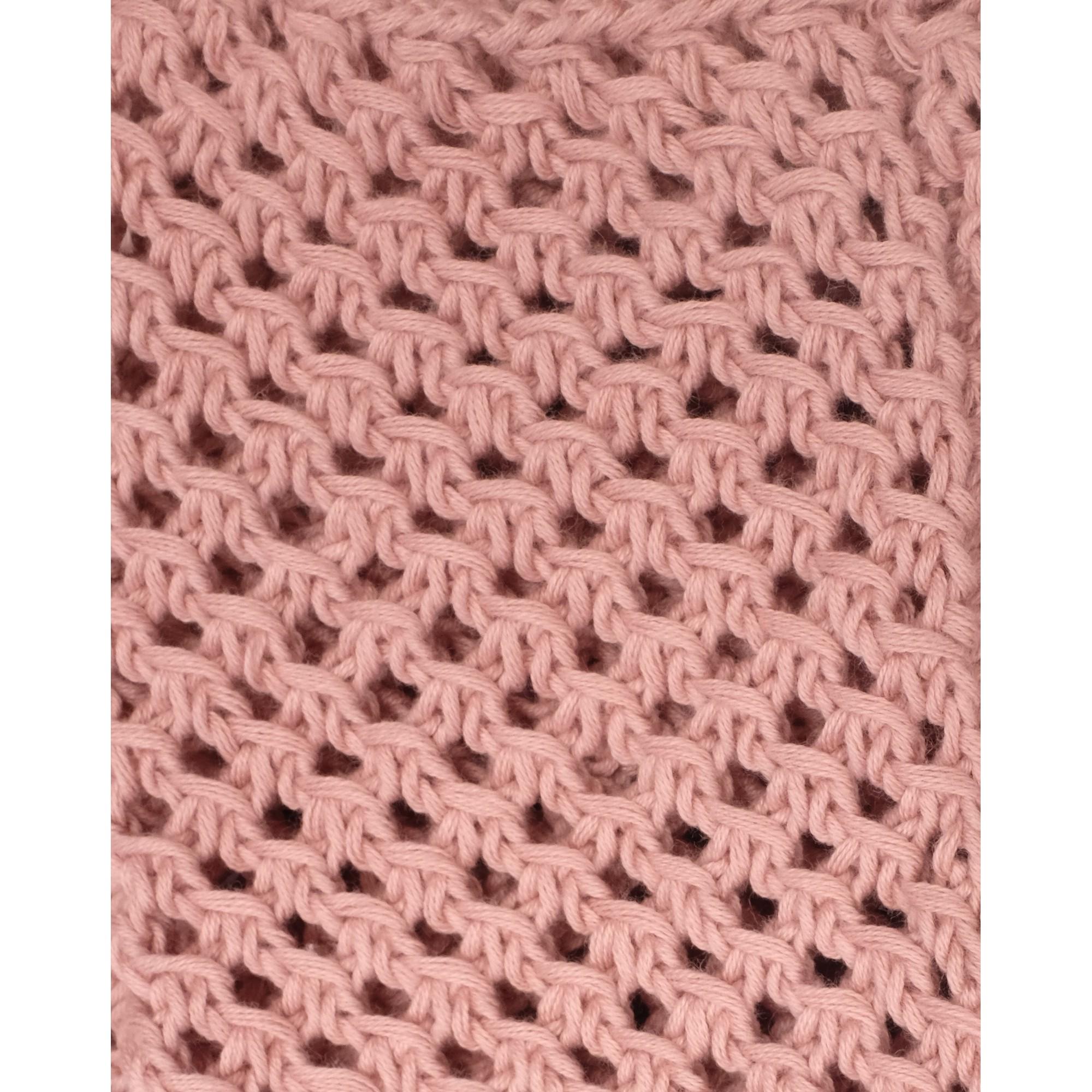 Gilet Joséphine rose opaline coton détail 3