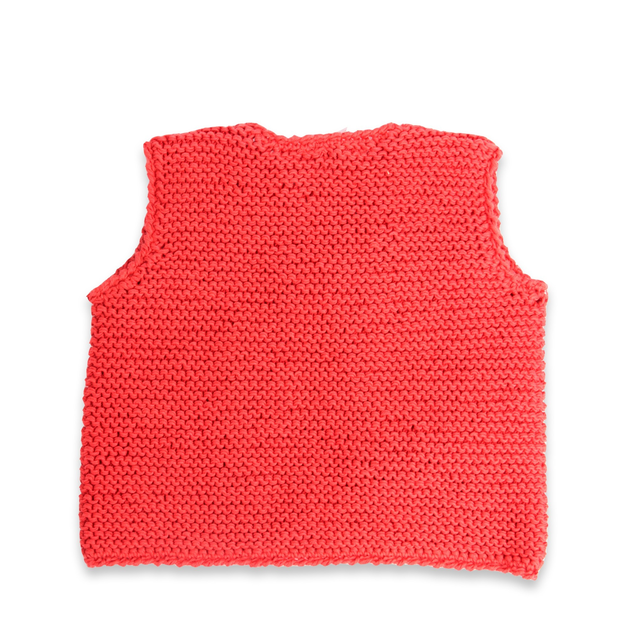 Gilet sans manche Lucette corail 100% coton dos
