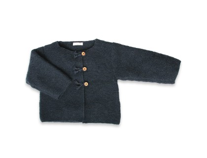 Marie-Jeanne cardigan navy blue wool mohair cotton cashmere