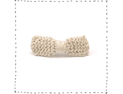 Hair clip knitted bow sand cotton