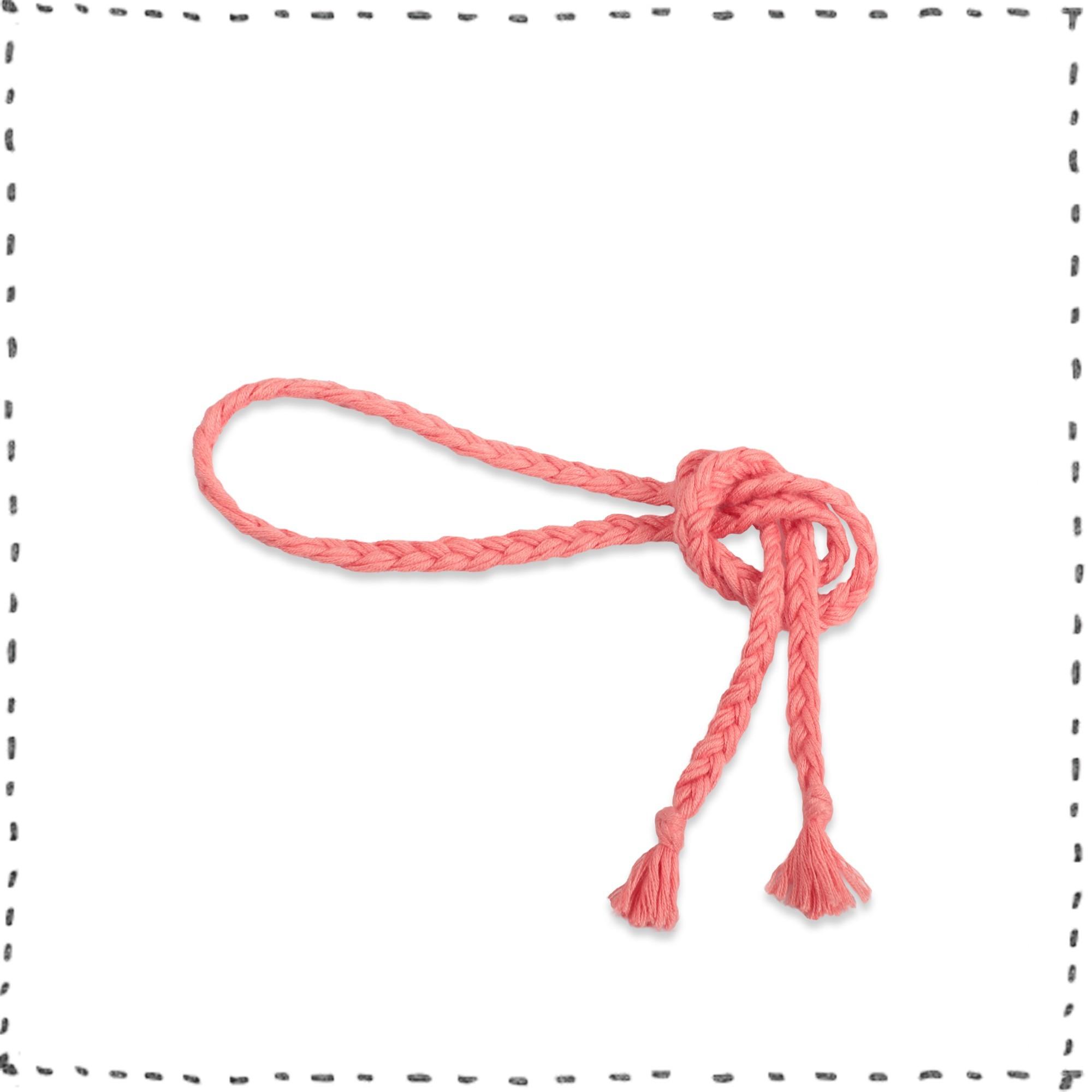 Les tricots de mamy - Ceinture rose corail bébé tressée en bambou et ... 07bd0691e73