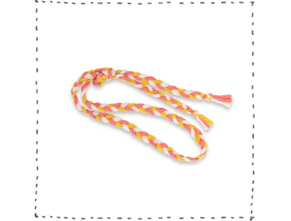 Plaited belt sand curry grenn coral pink baby kid