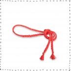 Ceinture rouge tressée accessoire mode enfant