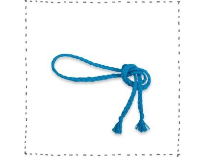 Ceinture tressée bleue accessoire mode enfant