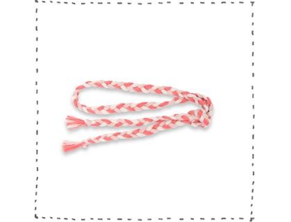Plaited belt sand opaline pink coral pink for kids