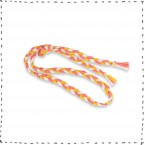 Plaited belt sand coral pink curry green for kids