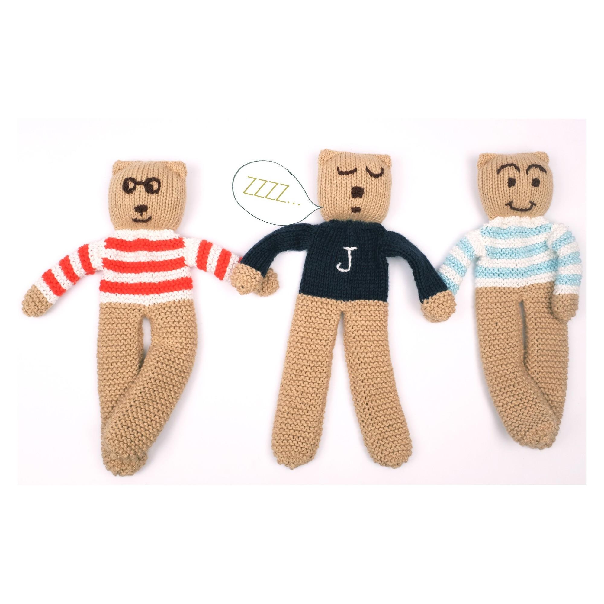 Ourson tricoté personnalisable avec ses copains