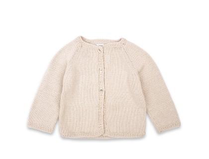 Gilet Marie-Louise coton bébé enfant couleur sable