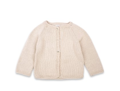 Marie-Louise Cardigan cotton baby kid sand color