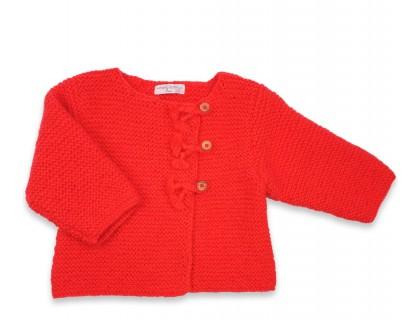 Gilet Marie-Jeanne rouge doux pour enfant