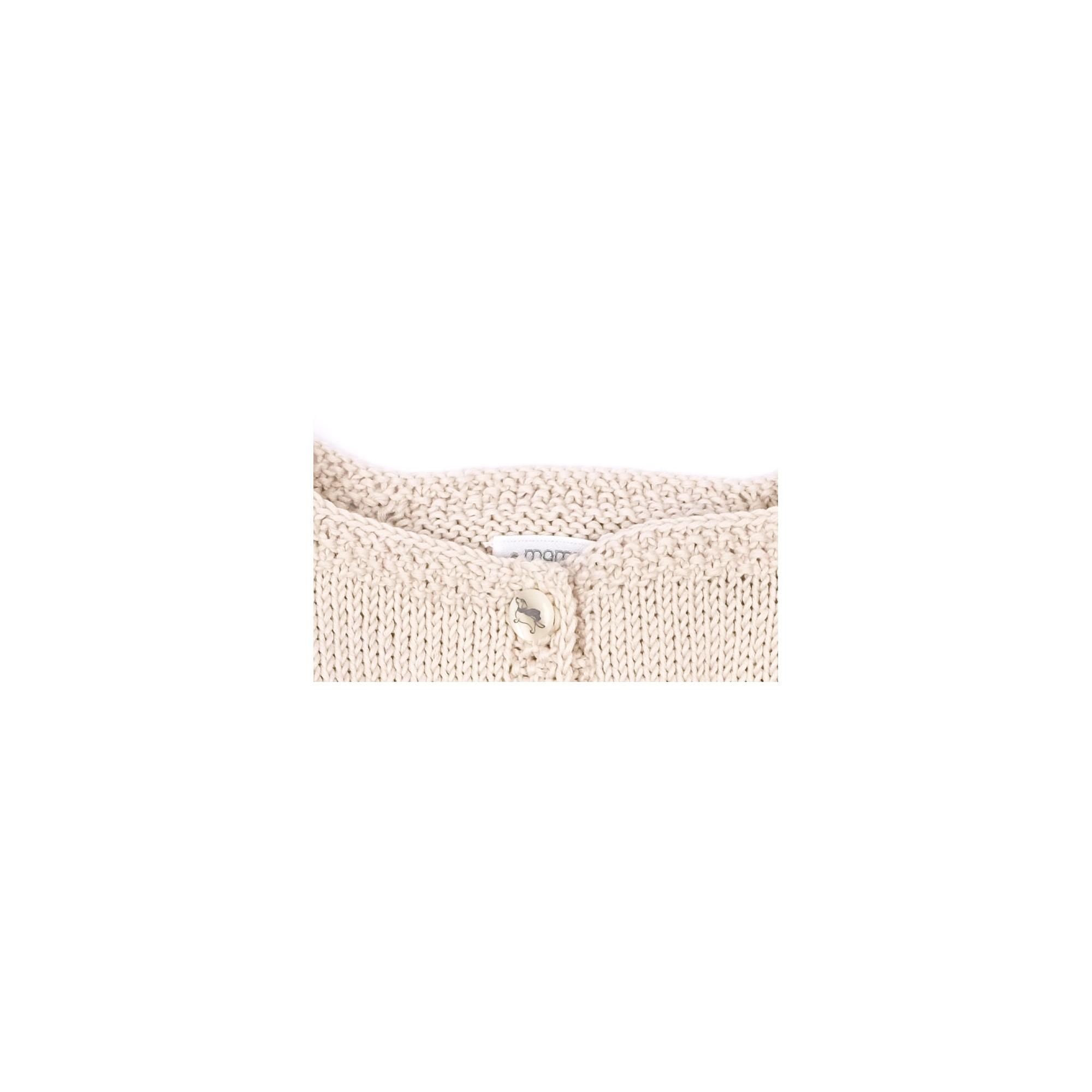 Gilet Marie-Louise sable coton détail 2