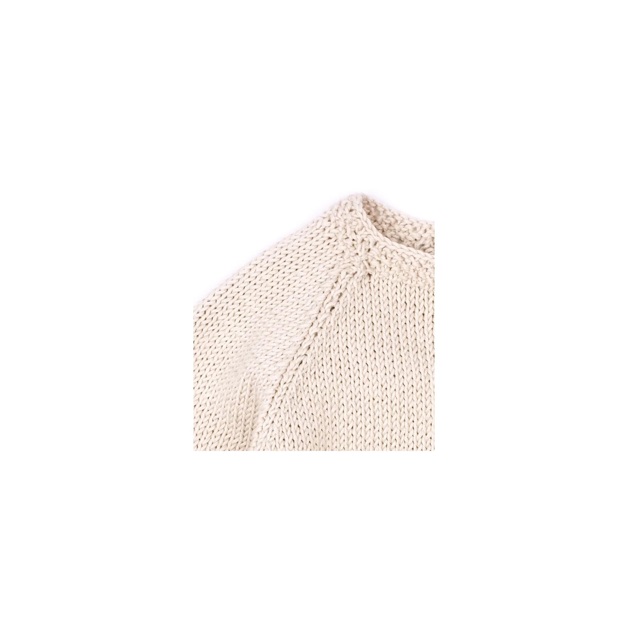 Gilet Marie-Louise sable coton détail 3