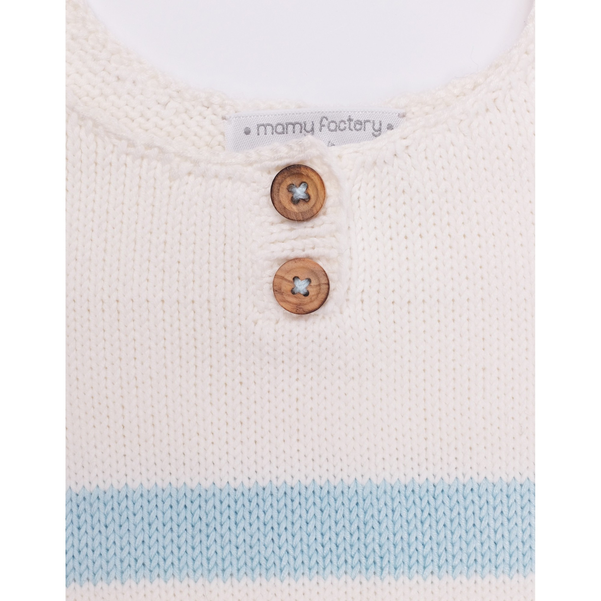 Augustine Dress blue stripes bamboo cotton detail 3