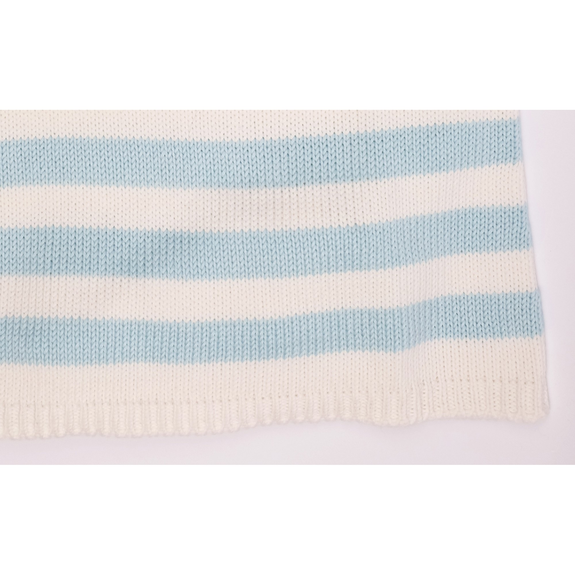 Robe Augustine rayée bleu bambou coton détail 4
