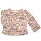 Basile sweater kid flecked taupe cotton bamboo cashmere