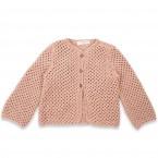 Joséphine cardigan opaline pink cotton baby kid