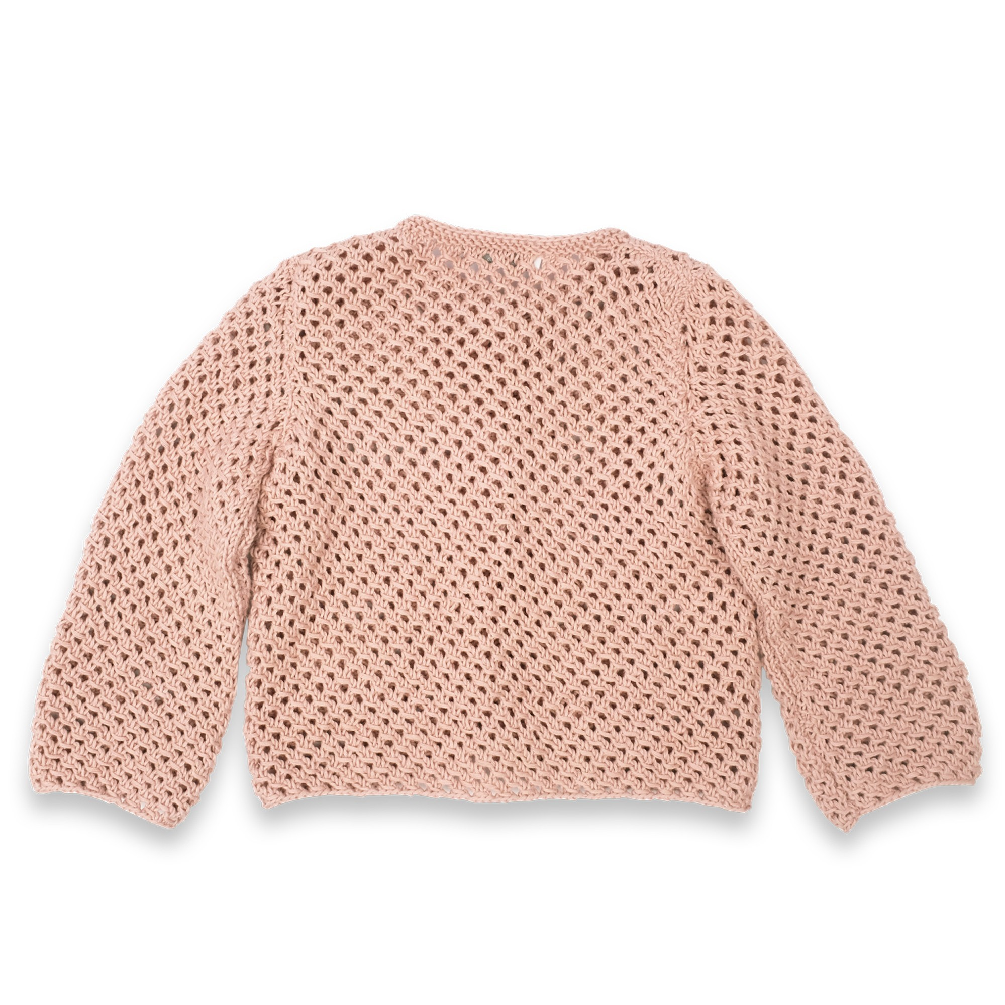 Joséphine cardigan opaline pink cotton baby kid back