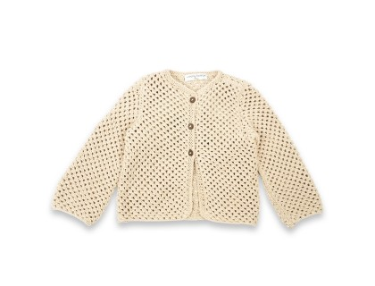 Joséphine cardigan cotton baby kid sand color