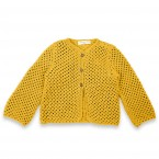 Joséphine cardigan curry green cotton kid