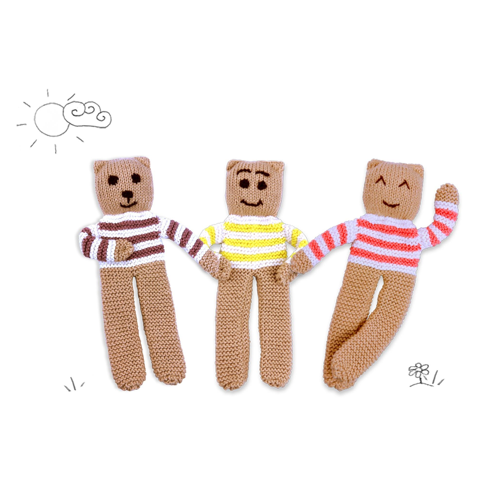 Ourson tricoté bébé divers coloris