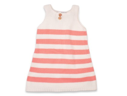 Augustine Dress pink for kids cotton yarn