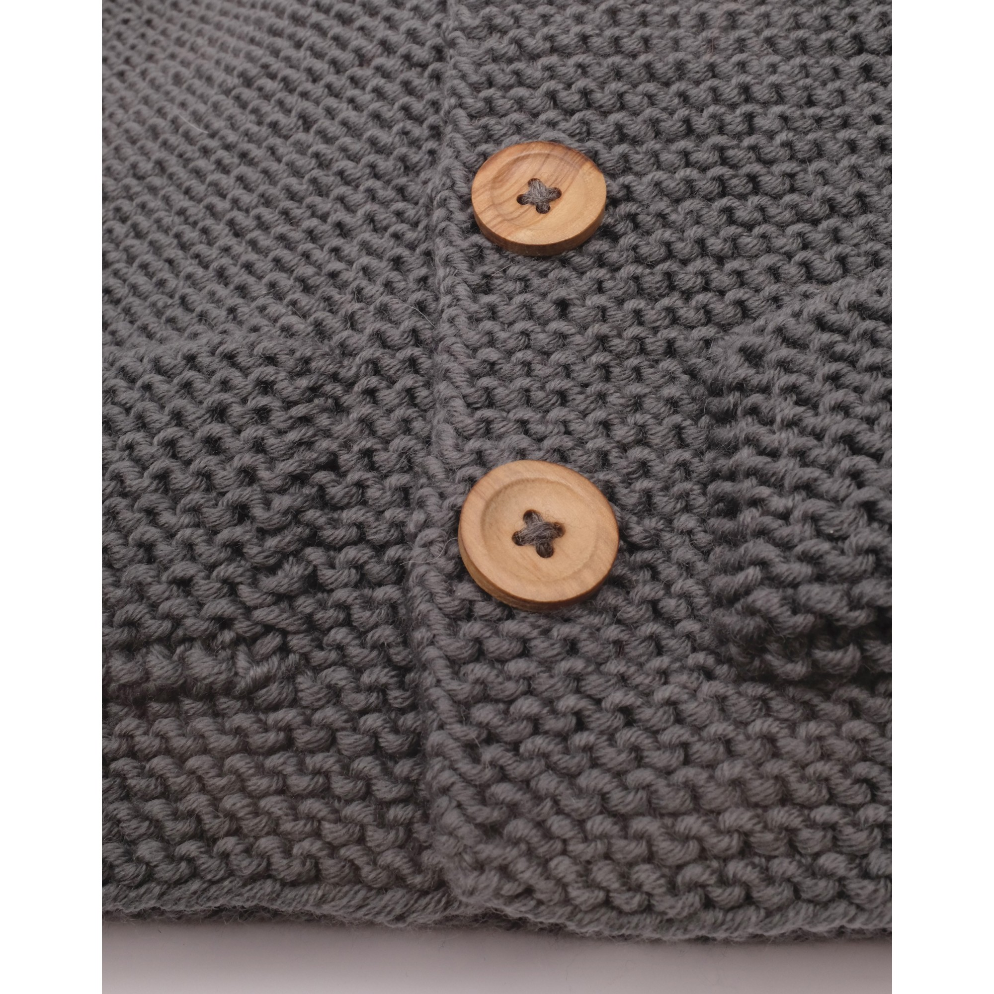 Gilet Simone gris ardoise 100% laine détail 2