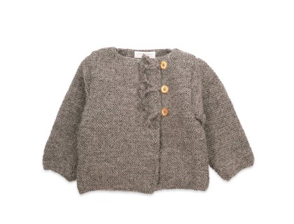 Marie-Jeanne cardigan flecked grey wool