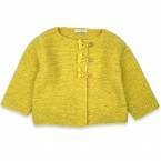 Marie-Jeanne cardigan flecked lime green color for baby