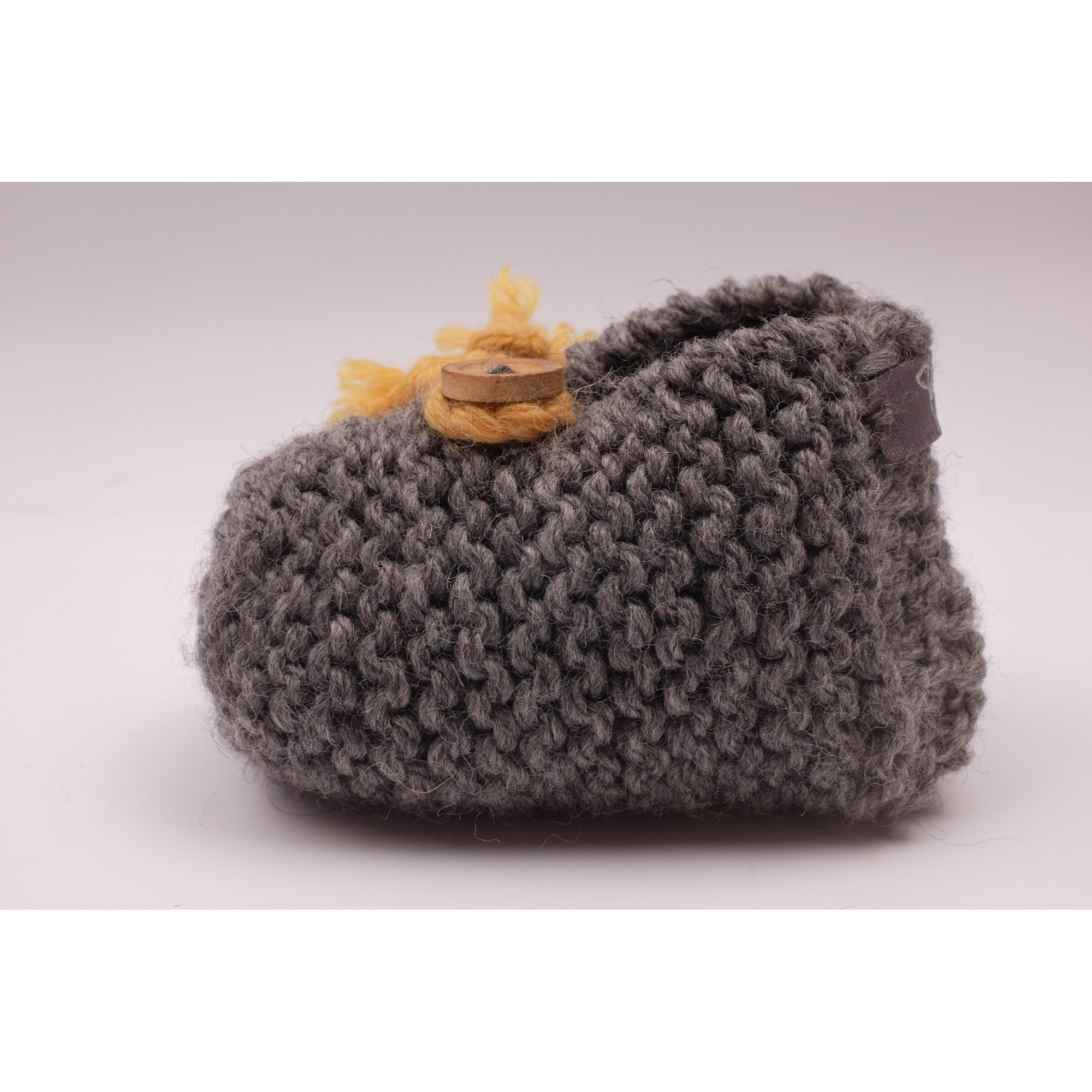 Joseph slippers anthracite and yellow baby side