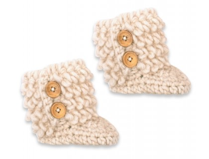 Eglantine boots natural white wool alpaca