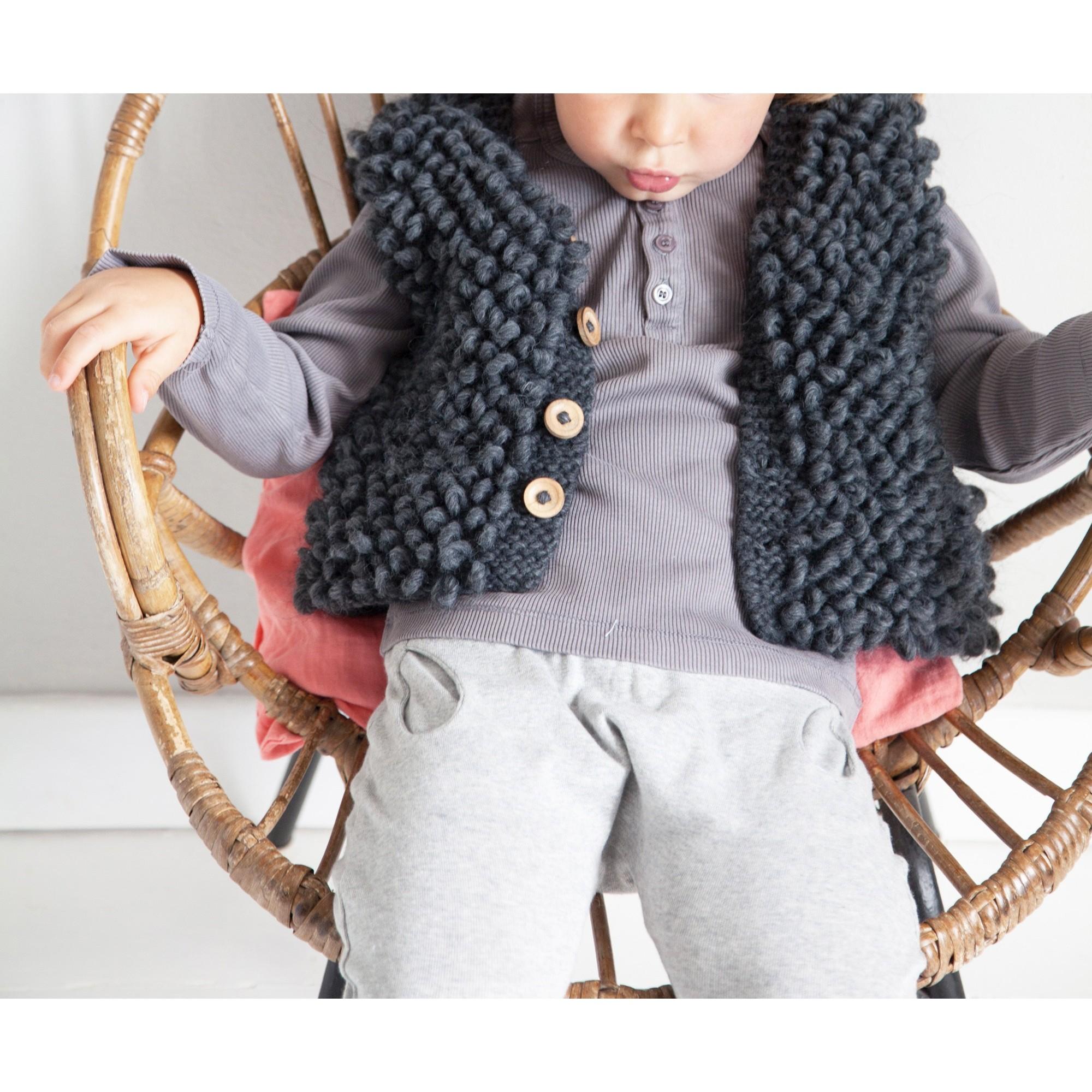 Gilet de berger Philibert style berger laine alpaga porté