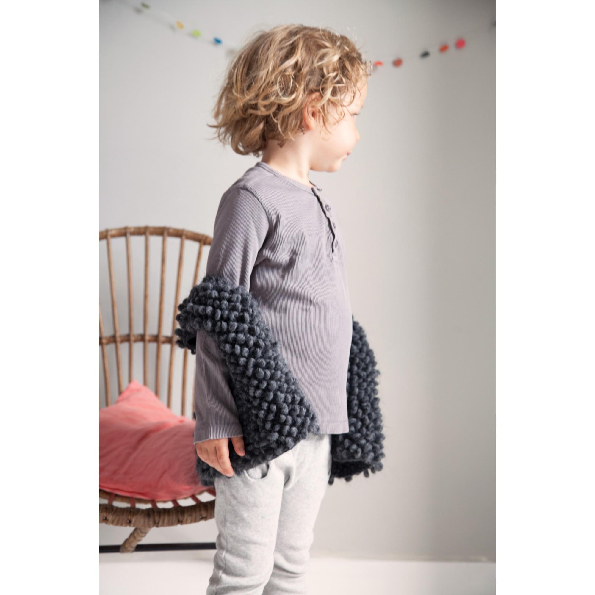 Gilet de berger Philibert style berger laine alpaga porté 2