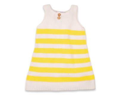 Augustine Dress white and yellow stripes very soft
