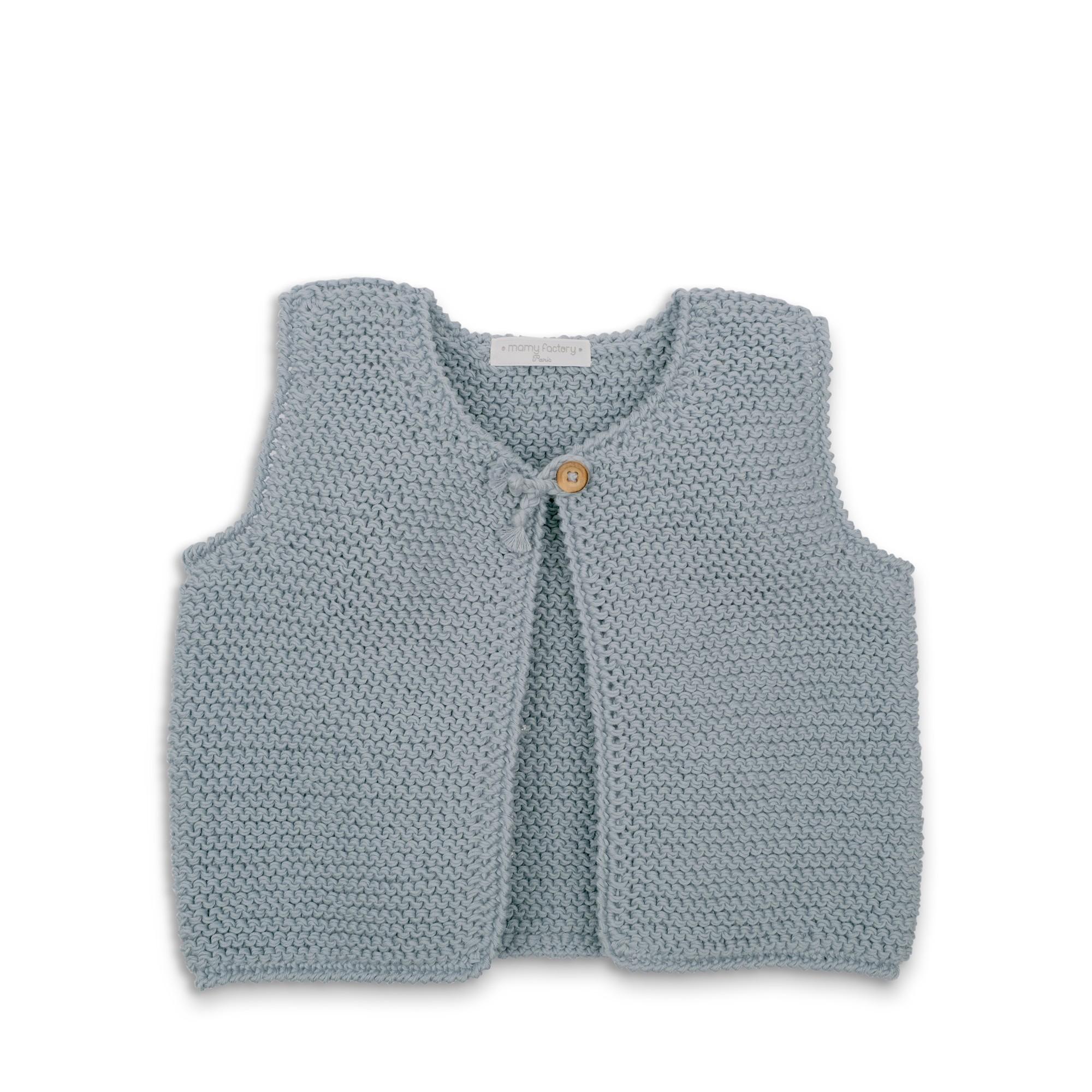 patron tricot gilet sans manche bebe