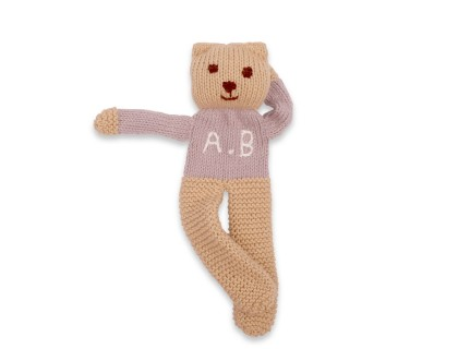 Customizable teddy bear grey cotton cashmere