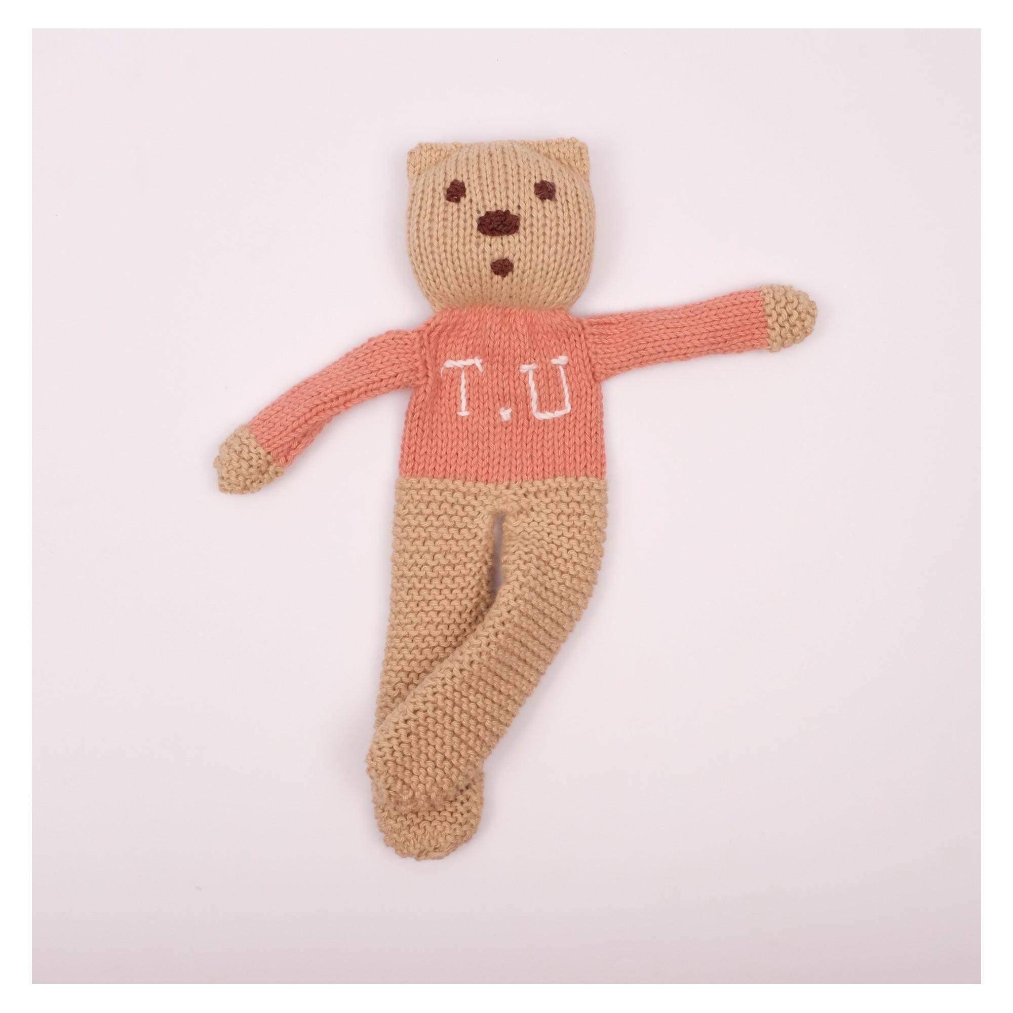 Ourson tricoté personnalisable