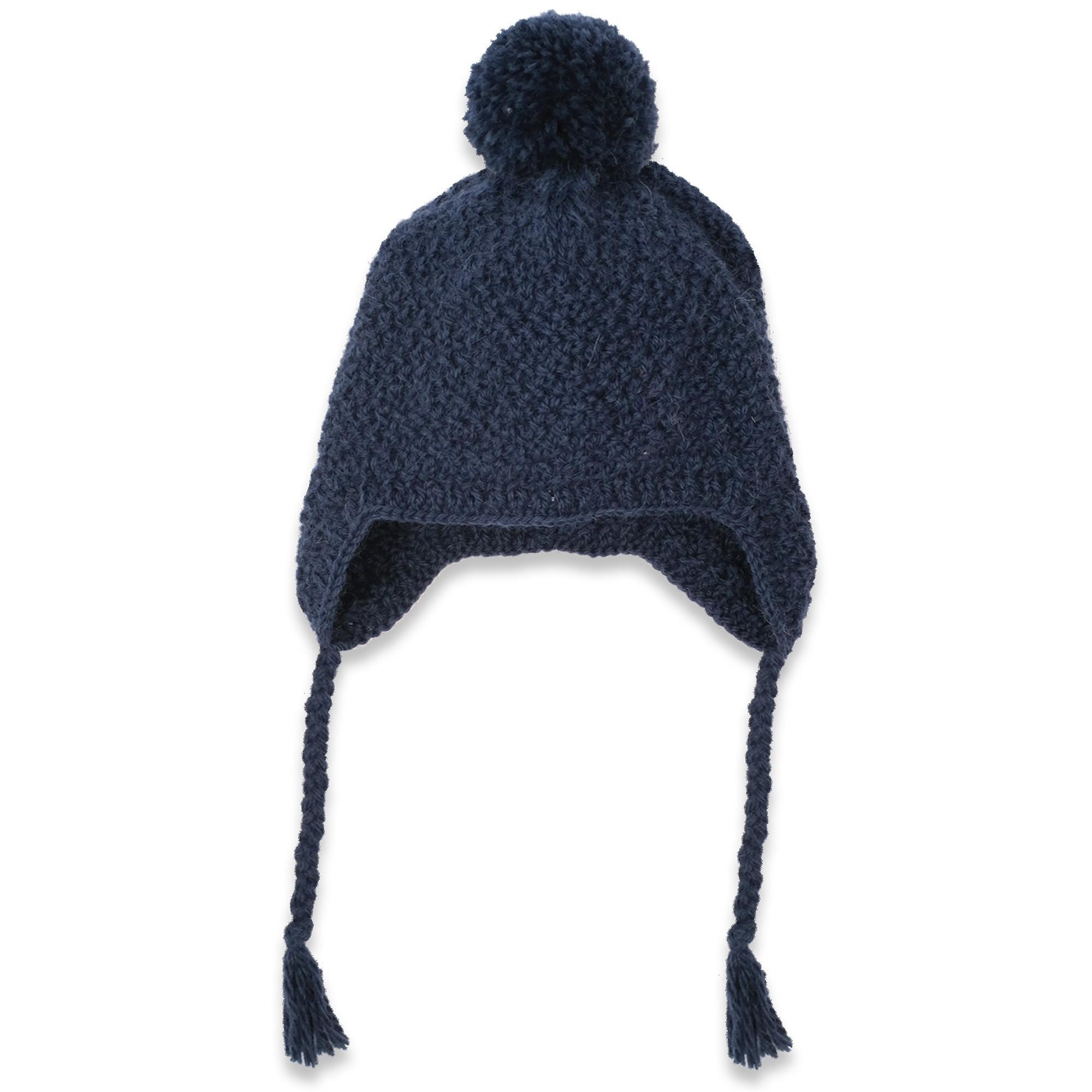 Les tricots de mamy - Bonnet bébé enfant marine, tricoté main au ... 49a84ed5891