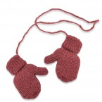 Rhubarb mittens for kid