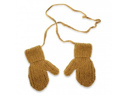 Cumin mittens for kid - merino and angora