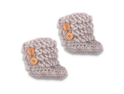 Eglantine boots grey wool alpaca
